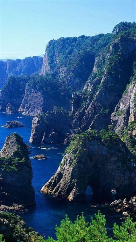 hdwallpaperscom  mountain cliff shore desktop wallpaper  mountain cliff shore