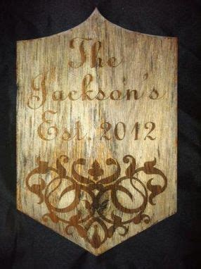 crafted custom engraved front door name plaque by