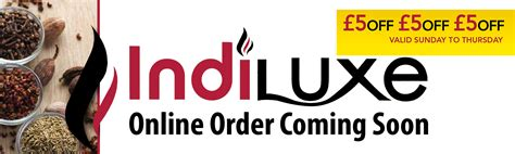 Special Offer Order special offer indiluxe authentic indian cuisine