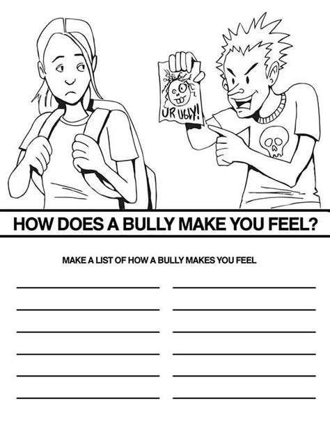 Free Bullying Coloring Pages Bullying Coloring Pages
