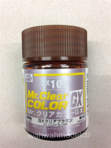 Mr Color Gx101 Clear Black Mr Hobby Lacquer Paint mr hobby gx109 mr clear color brown mr clear color 18ml