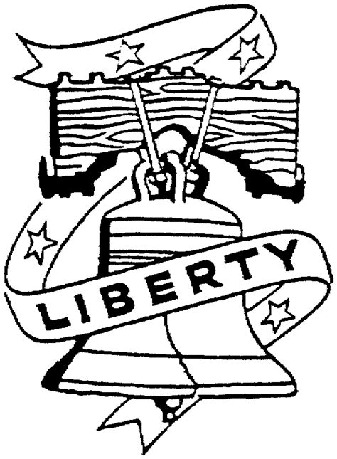 Liberty Bell Coloring Page Printable by Liberty Bell Coloring Page Coloring Home