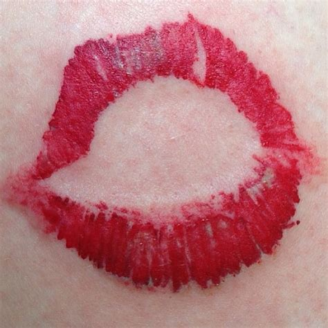 lipstick kiss tattoo tattoos designs ideas and meaning tattoos for you