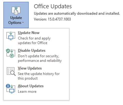 Office 365 Updates Rolling Back Office 365 To Previous Release Versions