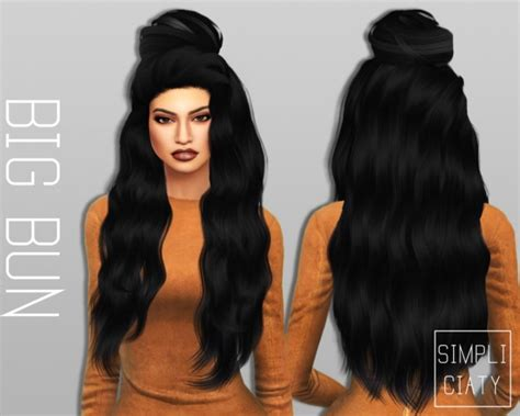 sims 4 bun braids sims 4 hairs simpliciaty 6 variations of buns hair