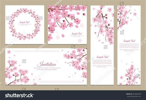 Wedding Invitation Banner Card by Set Greeting Cards Banners Invitation Card Stock Vector