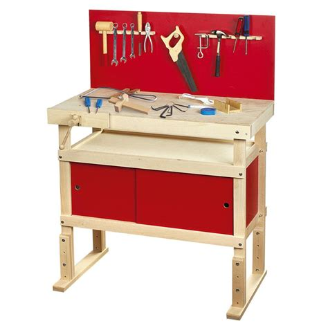 wooden toy tool bench young carpenters work bench role play fun by leomark new