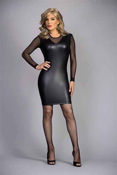 Dressing En Femme by Luxurious Leather Dress For Crossdressers And Trans