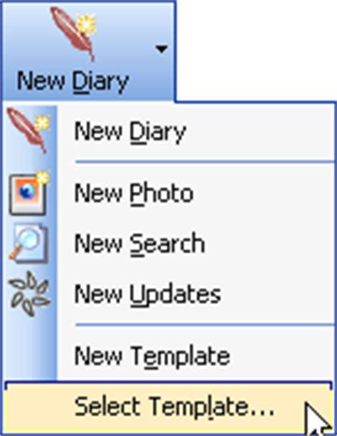 diary software faq create and make use of diary templates