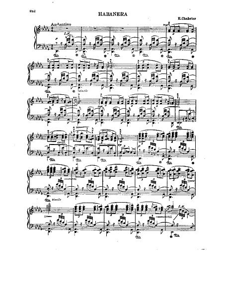 Habanera Pianoforte - Spartiti - Cantorion - Spartiti e