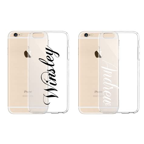 Iphone 5 Sai 7 Plus Custom Softcase Casing Sinar Ba 007 personalized custom name clear tpu rubber for iphone 7 7 plus 6 6s gift