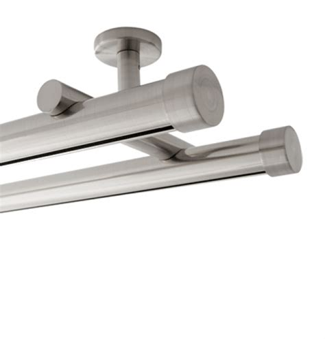 double curtain rod ceiling mount 8 aria metal h rail double ceiling mount traverse rod kit