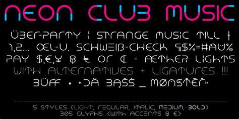 dafont neon neon club music font dafont com