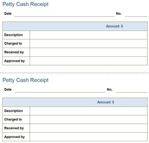 petty cash receipt  petty cash receipt template