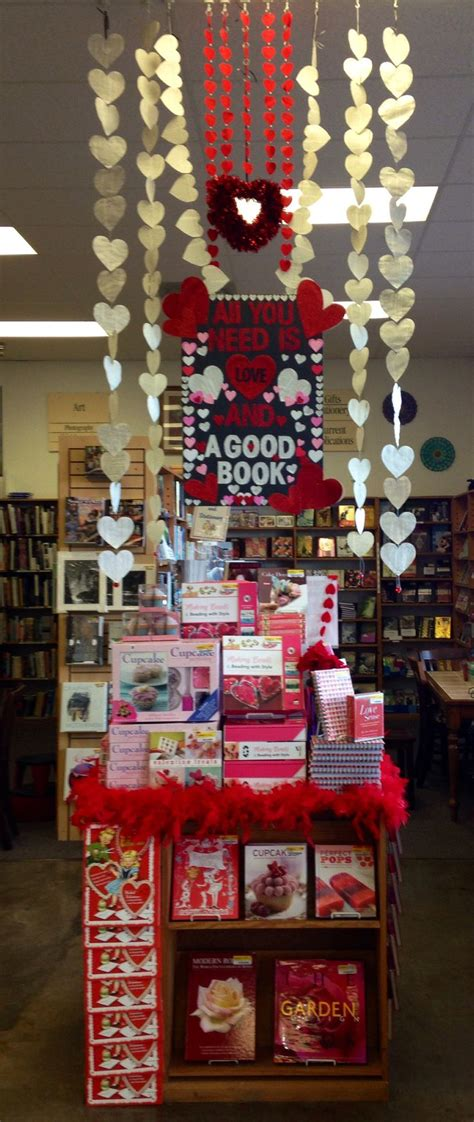 themes for book displays valentine display library display pinterest