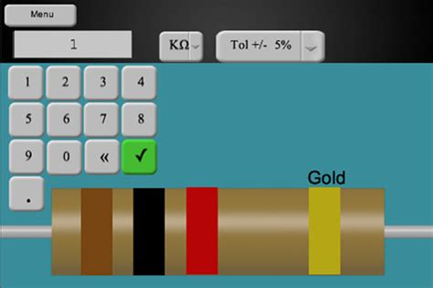 resistor color calculator software resistor color code software