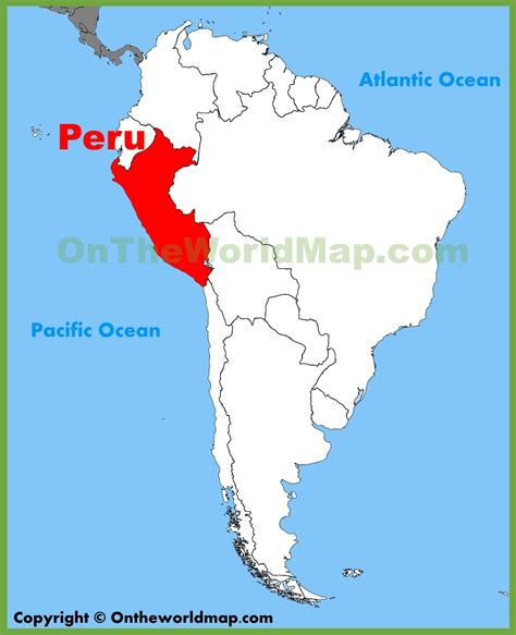 where is lima peru located on a world map peru location on the south america map