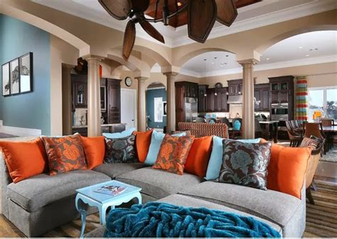 Orange Colour Combination Living Room by Living Room Design With Color Combination Blue Orange And
