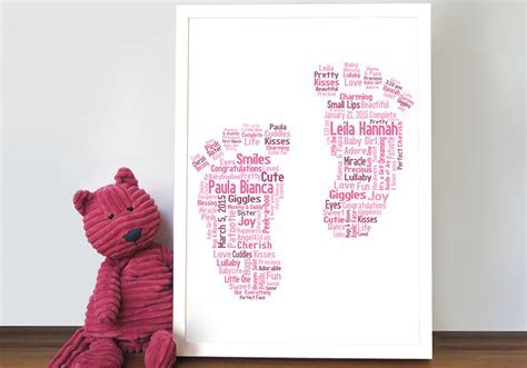 Footsteps Personalised Art Baby Gift Idea Canvas Print