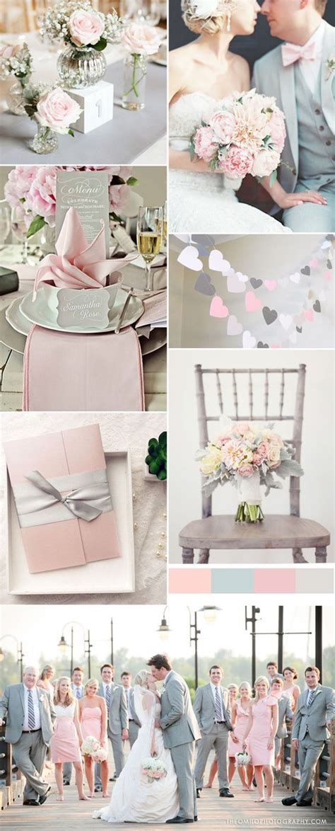 pink and grey color scheme 2016 spring wedding color trends chapter one seven pink