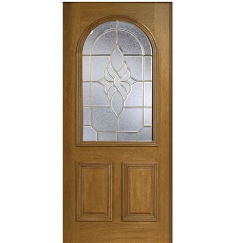 Best Type Of Exterior Door Door 36 In X 80 In Mahogany Type Top Glass Prefinished Walnut Beveled Brass Solid