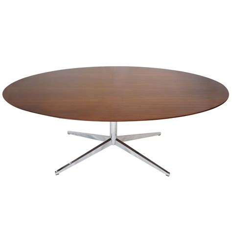 8 Foot Dining Table 8 Foot Florence Knoll Oval Dining Table Desk Or Conference Table In Rosewood At 1stdibs