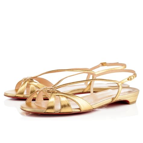 Gold Flat by Christian Louboutin Gold Flats