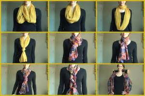 Different Ways To Tie An Infinity Scarf Different Ways To Tie And Wear A Scarf