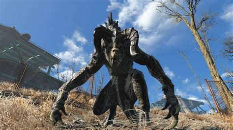 fallout 3 deathclaw alpha catching a deathclaw in fallout 4 s new wasteland workshop
