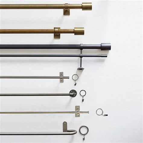 industrial curtain hardware 25 best ideas about double curtain rods on pinterest