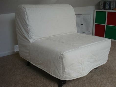 futon sofa bed cover ikea lycksele lovas chair bed with cover as new in