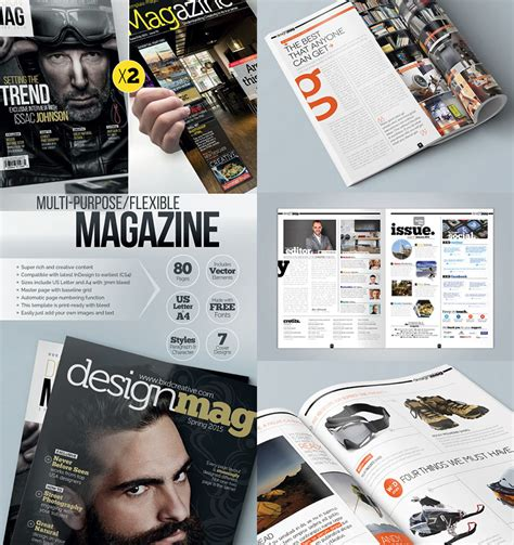 20 magazine templates with creative print layout designs nett magazin layoutvorlage zeitgen 246 ssisch beispiel