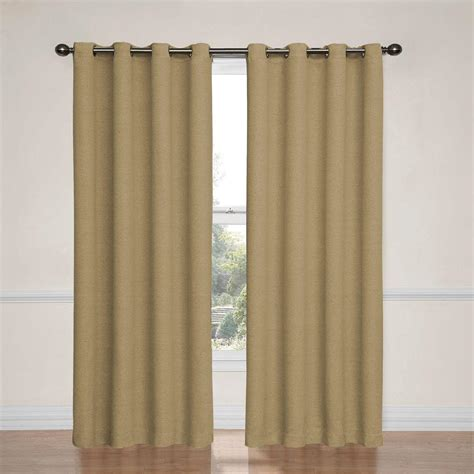 tan curtains eclipse bobbi blackout tan curtain panel 84 in length