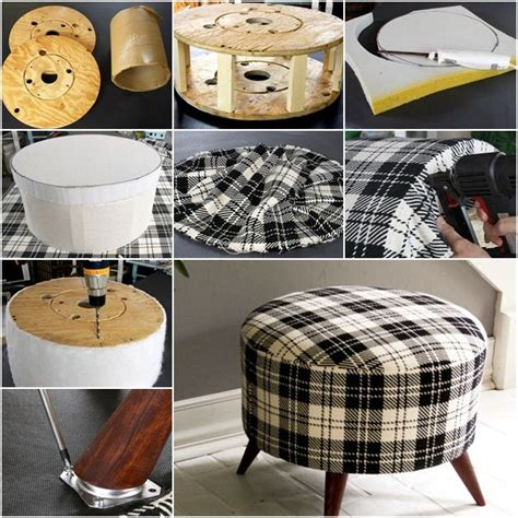 do it yourself ottoman how to diy shelly s salvaged spool ottoman diy do it