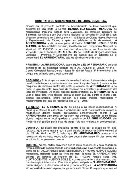 contrato de alquiler peru 2016 modelo de contrato de alquiler actualizado a 2016 cordoba