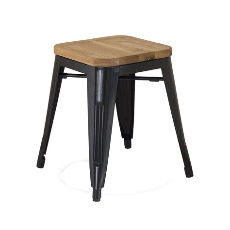 Xavier Pauchard Stool by Replica Xavier Pauchard Wooden Seat Stool