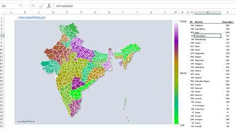 Editable Powerpoint Vector Map Of India S Districts Editable Map Of India