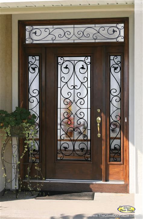 Wrought Iron Exterior Door Wrought Iron Glass Front Entry Doors Mediterranean Entry Ta By The Glass Door