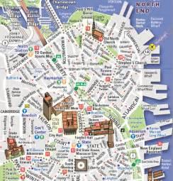 Boston Freedom Trail Map by Boston S Freedom Trail American Revolution