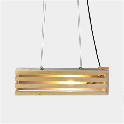 Rectangular Pendant Light Rectangular Concrete Timber Pendant Light