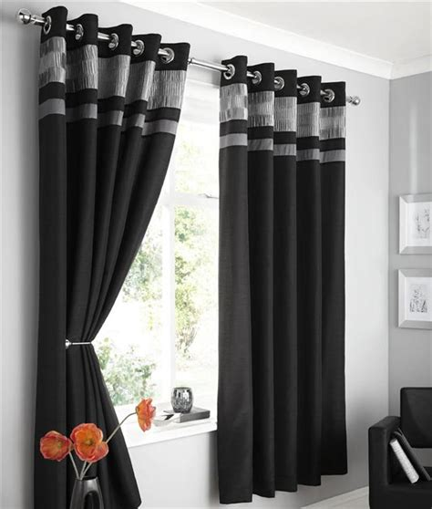 NEW FAUX SILK LINED CURTAINS   PLUM BROWN BLACK OR CHARCOAL EYELET CURTAINS   eBay