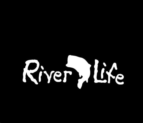 River Sticker fishing decals river bass stickers custom sticker