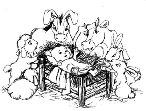 coloring pages nativity animals jesus manger animals coloring pages