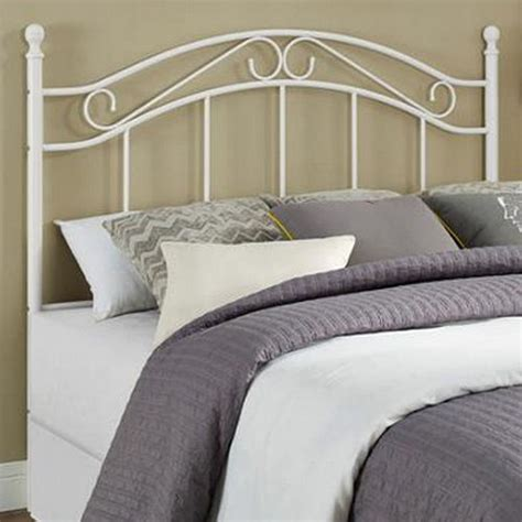 headboards for full size beds fits queen too metal white