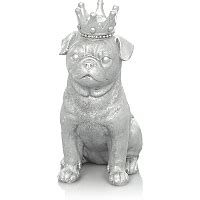 pug ornaments asda silver pug ornament home garden george