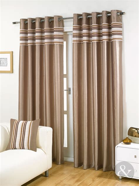 silk curtains ready made striped chenille silk curtains luxury eyelet ring top