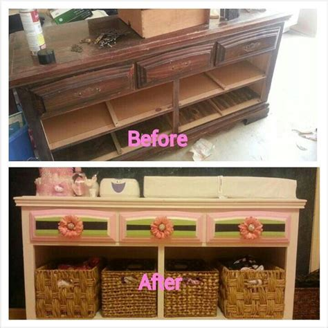 Refurbished Furniture To Make A Beautiful Yet Cheap Cheap Changing Table Dresser