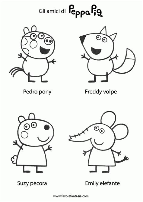 peppa pig and friends coloring pages peppa pig and friends coloring pages print coloring home