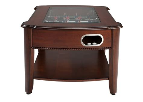 berner 2 in 1 foosball coffee table antique walnut
