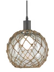 coastal light fixtures large glass buoy float pendant cottage home 174